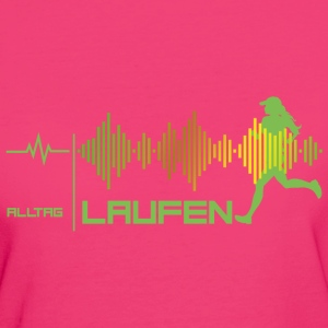 Läuferin - Alltags-Puls - good vibes (grün) T-Shirts - Frauen Bio-T-Shirt