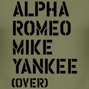 Alpha Romeo Mike Yankee - over T-Shirts - Men's Slim Fit T-Shirt