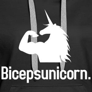Biceps Unicorn Sweat-shirts - Sweat-shirt à capuche Premium pour femmes