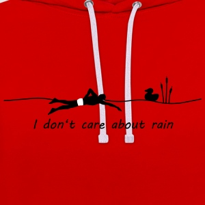 I dont care about rain Pullover & Hoodies - Kontrast-Hoodie