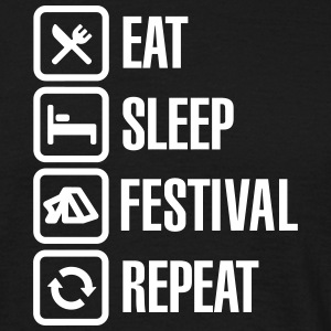 Eat Sleep Festival Repeat T-skjorter - T-skjorte for menn