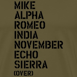 Mike Alpha Romeo India... over - MARINES T-paidat - Miesten premium t-paita