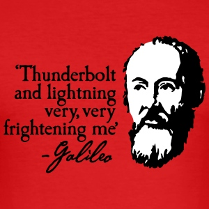 Galileo - Thunderbolt and lightning very... 2clr T-Shirts - Men's Slim Fit T-Shirt