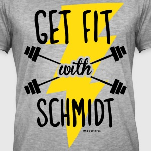 New Girl Get Fit With Schmidt - T-shirt vintage Homme
