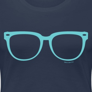 New Girl Jess Glasses - Premium T-skjorte for kvinner