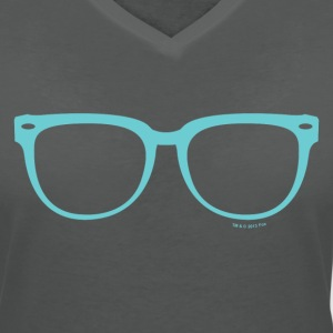 New Girl Jess Glasses - Women's V-Neck T-Shirt