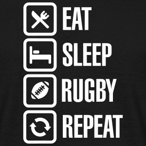 Eat Sleep Rugby  Repeat T-Shirts - Men's T-Shirt