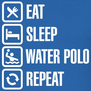Eat Sleep Water Polo Repeat T-Shirts - Men's Slim Fit T-Shirt