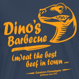Dino's BBQ - (m)eat the best beef in town - Männer Premium T-Shirt