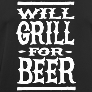 Will grill for beer T-Shirts - Men's Breathable T-Shirt