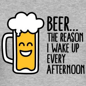 Beer is the reason I wake up every afternoon T-Shirts - Men's Slim Fit T-Shirt