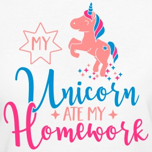 My Unicorn ate my Homework T-shirts - Organic damer