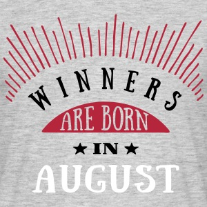 Winners Are Born In August - 3C T-Shirts - Männer T-Shirt