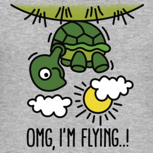 OMG, I'm flying! Turtle T-Shirts - Men's Slim Fit T-Shirt