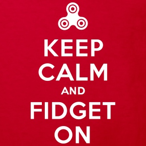 Keep calm and fidget on - Fidget Spinner Shirts - Kids' Organic T-shirt
