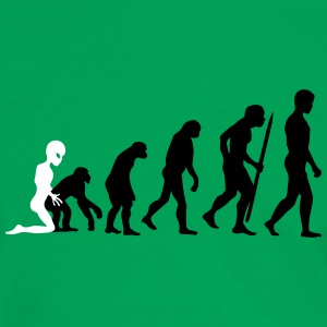 Alien - Human Evolution V2 T-shirts - Herre kontrast-T-shirt