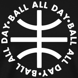 BALL ALL DAY Circle Shirt - Black - Männer Premium T-Shirt