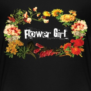 Flower Girl T-Shirt - Teenage Premium T-Shirt
