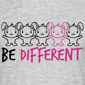 Text be different woman female gay gay hands holdi T-Shirts - Men's T-Shirt