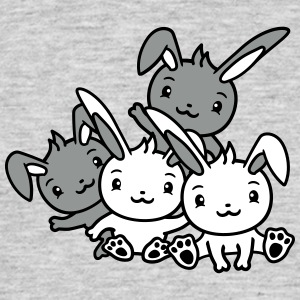 Standing sideways rabbit hare small cute cute happ T-Shirts - Men's T-Shirt