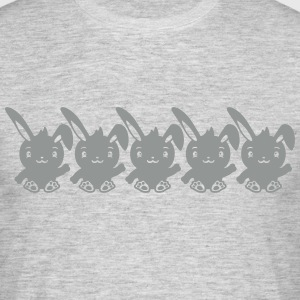 Pattern 5 friends team shadow outline sitting wavi Camisetas - Camiseta hombre