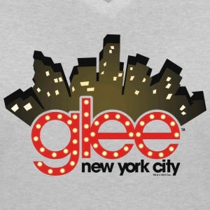 Glee New York City Stage Lights - Women's Organic V-Neck T-Shirt by Stanley & Stella