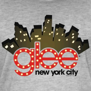 Glee New York City Stage Lights - Men's Vintage T-Shirt