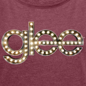 Glee Logo Lettering Stage Lights - Women's T-shirt with rolled up sleeves