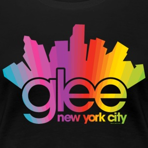 Glee Logo New York City Rainbow - Women's Premium T-Shirt
