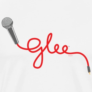 Glee Typography Microphone Lettering - Mannen Premium T-shirt