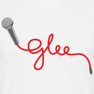 Glee Typography Microphone Lettering - Men's T-Shirt