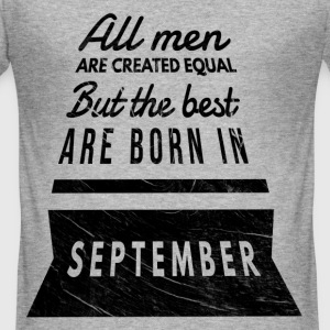 verjaardag all men are created equal september T-shirts - slim fit T-shirt