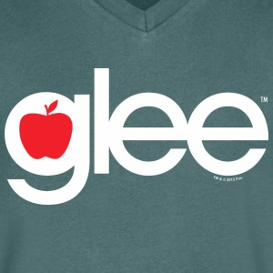 Glee Typography Lettering - Men's Organic V-Neck T-Shirt by Stanley & Stella