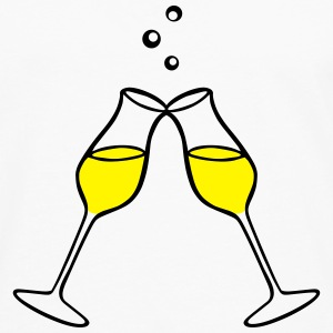 Champagne Glasses, Party, Celebration 2 colors Långärmade T-shirts - Långärmad premium-T-shirt herr