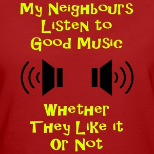 Music and neighbours Tee shirts - T-shirt Bio Femme
