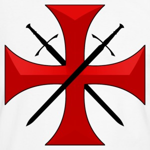 Templar cross and swords Tee shirts - T-shirt contraste Homme