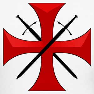 Templar cross and swords Manches longues - T-shirt baseball manches longues Homme