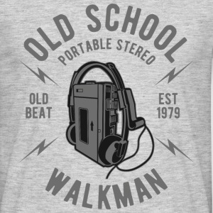 Walkman Old School Stereo - Männer T-Shirt