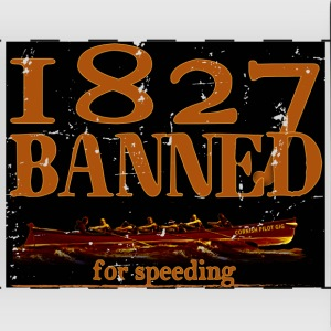 1827 Banned for Speeding - Full Color Panoramic Mug