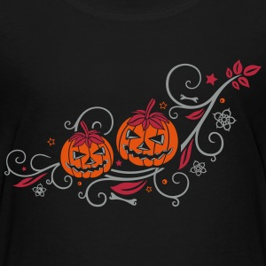 Halloween ornament with pumpkins and flowers. Shirts - Teenage Premium T-Shirt