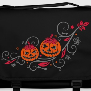 Halloween ornament with pumpkins and flowers. Bags & Backpacks - Shoulder Bag