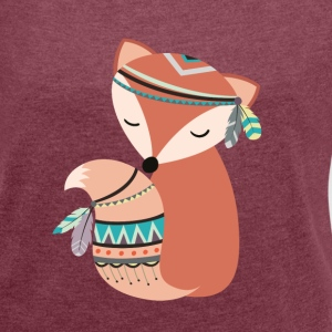 tribal foxy T-Shirts - Women's T-shirt with rolled up sleeves