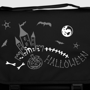 Halloween castle with bats, pumpkin and bones. Bags & Backpacks - Shoulder Bag
