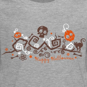 Halloween ornament with pumpkins and skull. Long Sleeve Shirts - Teenagers' Premium Longsleeve Shirt