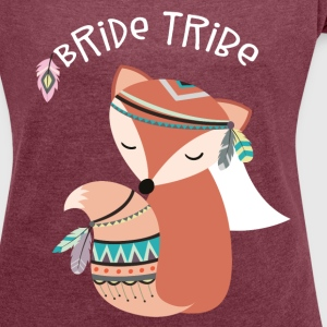 Bride Tribe Team Bride Hen Night T-Shirts - Women's T-shirt with rolled up sleeves