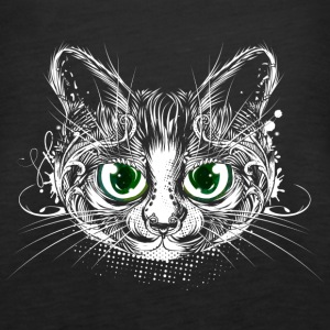 Cute cat with big green eyes Tops - Women's Premium Tank Top