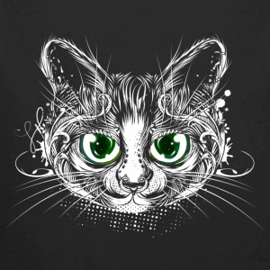 Cute cat with big green eyes Baby Bodysuits - Longlseeve Baby Bodysuit