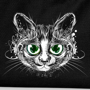 Cute cat with big green eyes Bags & Backpacks - Kids' Backpack