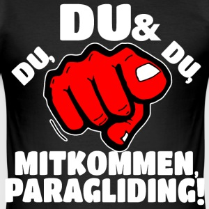 Paragliding T-Shirts - Männer Slim Fit T-Shirt