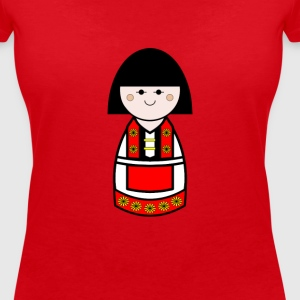 Womens Danish Doll Tshirt - Women's Organic V-Neck T-Shirt by Stanley & Stella
